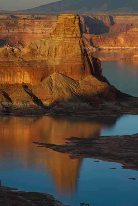 From the Utah side of Lake Powell, looking west at Gunsight Butte