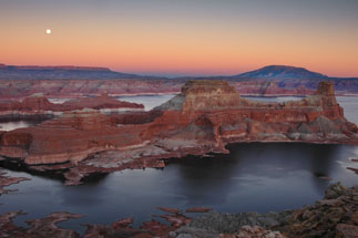 From Alstrom Point on the Utah side of Lake Powell, looking west toward Gunsight Butte