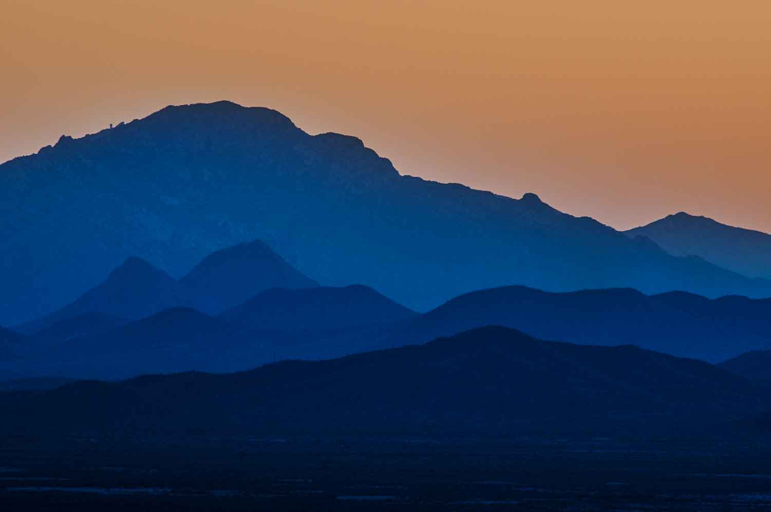From the Tucson Mts. looking west