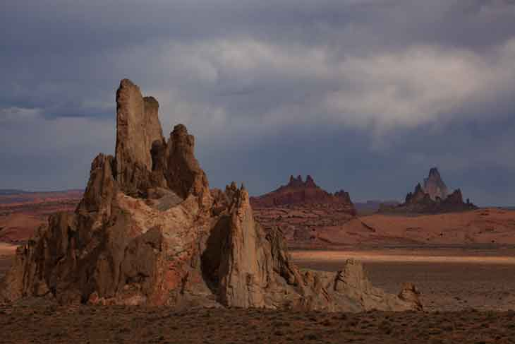 Church Rock on the Navajo Reservation, northern Arizona