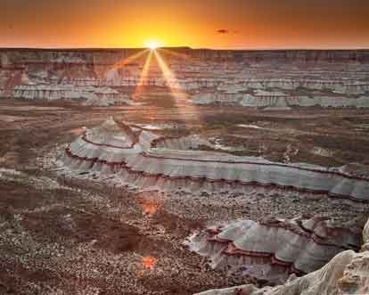 Sunset at Coal Mine Canyon on the Hopi and Navajo Reservations in northern Arizona