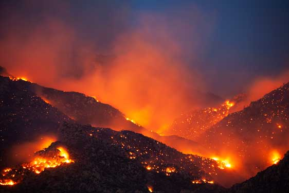 The Bighorn Fire in the Santa Catalina Mts., southern Arizona