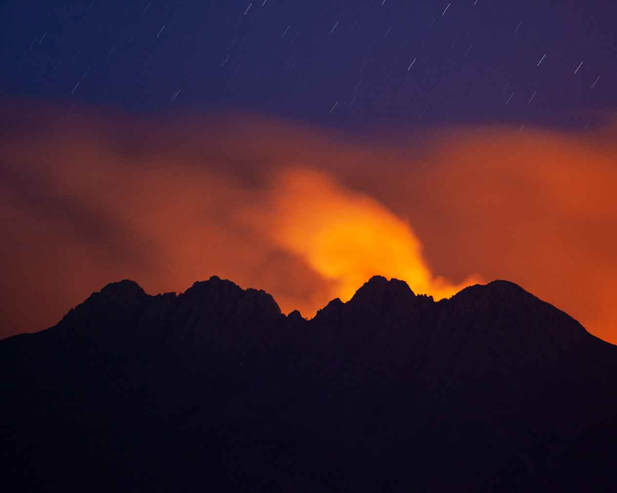 The Bush Fire in the Four Peaks Wilderness of southern Arizona