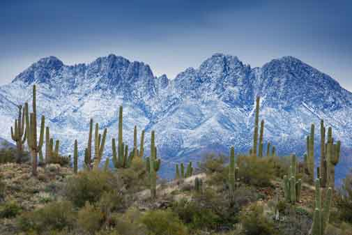 Four Peaks in the Mazatzal Mts., Arizona