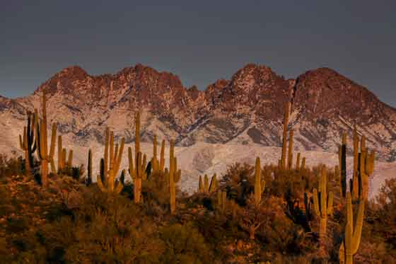 Four Peaks, Arizona with snow