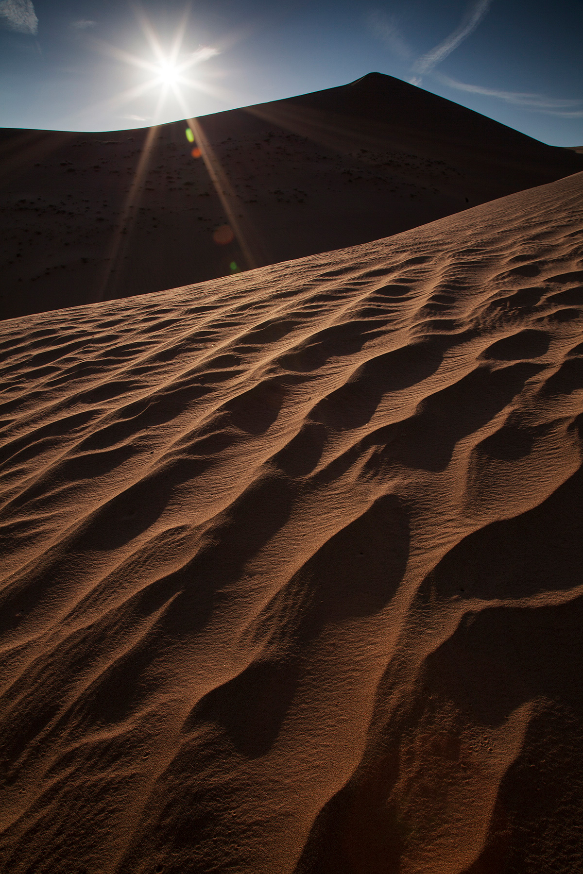 Sunset at Imperial Sand Dunes (Algodones Dunes) in the southern California desert