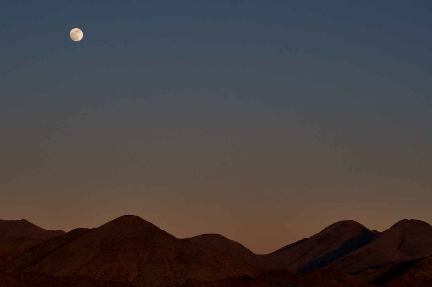 Moonrise near New River, Arizona