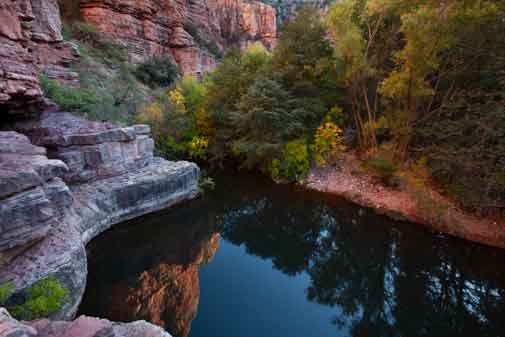 The big swimming hole at the end of the Parson's Trail in the Sycamore Canyon Wilderness, Arizona