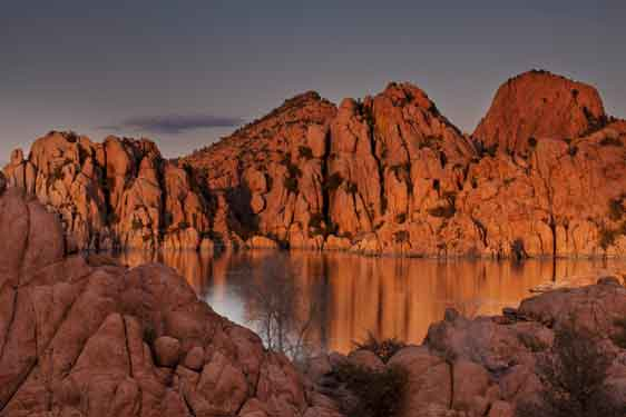 Watson Lake on the edge of Prescott, Arizona